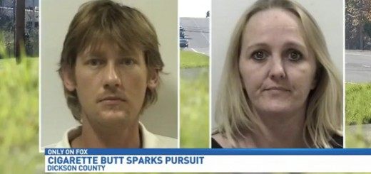 Cigarette Butt Sparks Nearly 120 MPH Chase in Dickson County